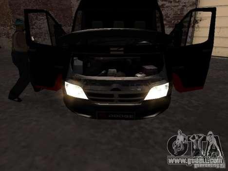Dodge Sprinter Van 2500 for GTA San Andreas right view