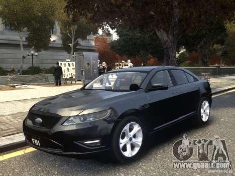 Ford Taurus FBI 2012 for GTA 4
