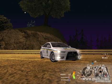Mitsubishi Lancer Evolution X DPS for GTA San Andreas back left view
