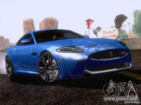 Jaguar XKR-S 2011 V2.0 for GTA San Andreas back view