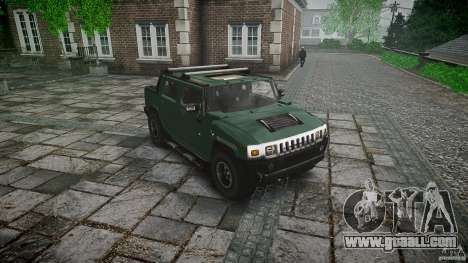 Hummer H2 for GTA 4 back view