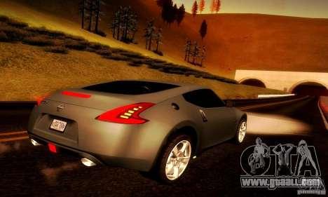 Nissan 370Z V2 for GTA San Andreas back left view