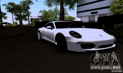 Porsche 911 Carrera S for GTA San Andreas back left view
