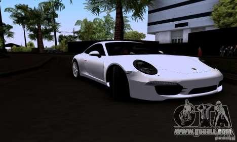 Porsche 911 Carrera S for GTA San Andreas back left view