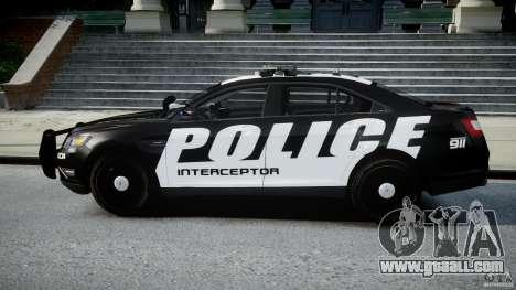 Ford Taurus Police Interceptor 2011 [ELS] for GTA 4 left view