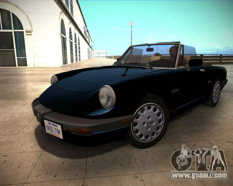 Alfa Romeo Spider 115 1986 for GTA San Andreas