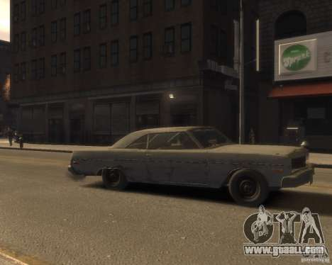 1975 Dodge Dart Rust for GTA 4 right view