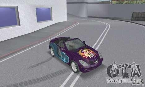 Mercedes-Benz SLK 350 for GTA San Andreas interior