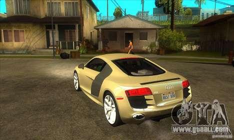 Audi R8 V10 5.2 FSI Quattro for GTA San Andreas back left view