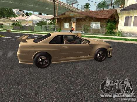 Nissan Skyline Z-Tune for GTA San Andreas back left view
