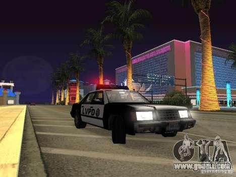 LVPD Police Car for GTA San Andreas inner view