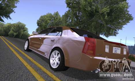 Cadillac CTS-V for GTA San Andreas back view