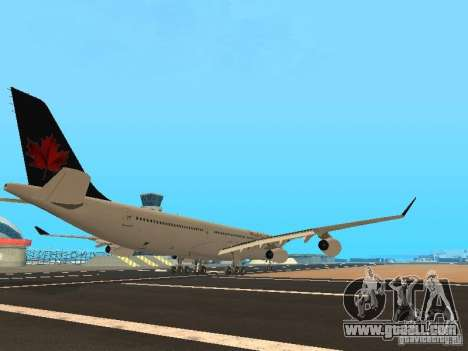 Airbus A340-300 Air Canada for GTA San Andreas right view
