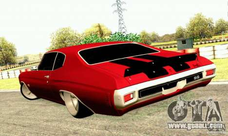 Chevrolet Chevelle 1970 for GTA San Andreas side view