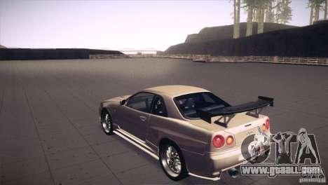 Nissan Skyline R34 for GTA San Andreas engine