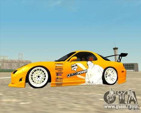 Mazda RX-7 sumopoDRIFT for GTA San Andreas left view