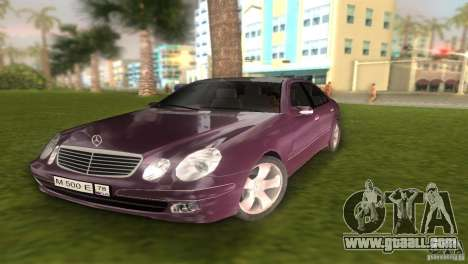 Mercedes E-class E500 for GTA Vice City