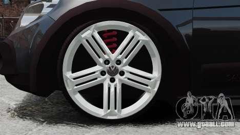 Volkswagen Saveiro Cross Edit for GTA 4 back view