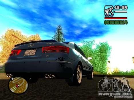 2008 Hyundai Sonata for GTA San Andreas right view