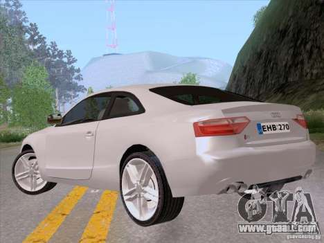 Audi S5 for GTA San Andreas left view