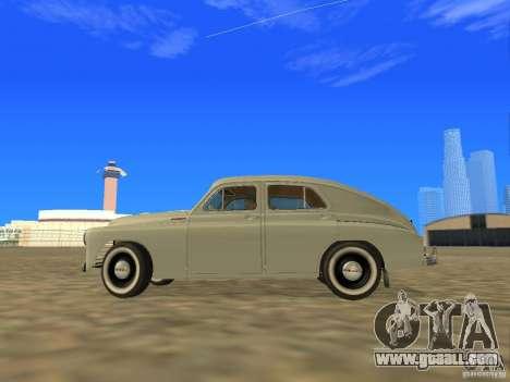 GAZ M20 Pobeda 1949 for GTA San Andreas left view
