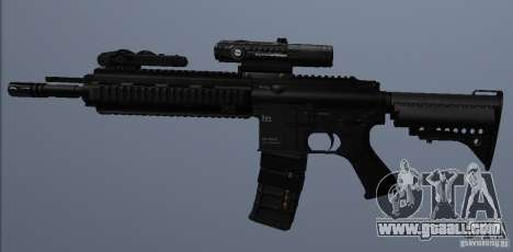 HK416 rifle for GTA San Andreas forth screenshot