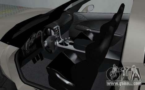 Chevrolet Covette Z06 for GTA San Andreas back view