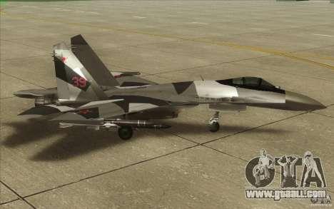 Su-35 BM v2.0 for GTA San Andreas back left view