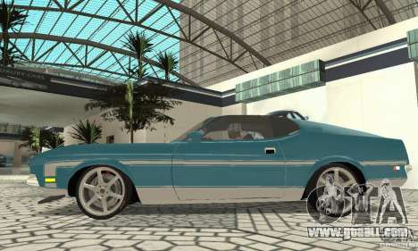 Ford Mustang Mach 1 1971 for GTA San Andreas back left view