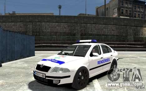 Skoda Octavia 2005 Hungarian Police for GTA 4