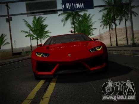 Lamborghini Estoque Concept 2008 for GTA San Andreas inner view