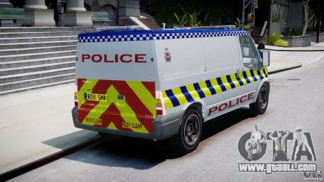 Ford Transit Polish Police [ELS] for GTA 4 inner view