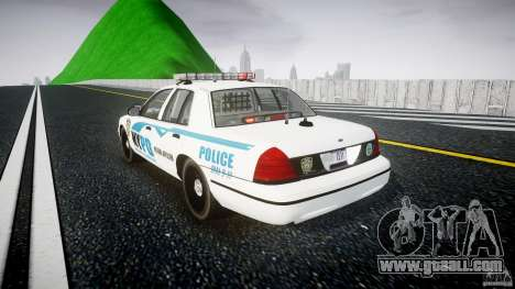 Ford Crown Victoria v2 NYPD [ELS] for GTA 4 back left view