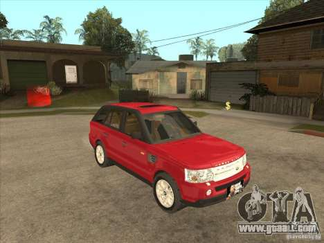 Range Rover Sport 2007 for GTA San Andreas back view