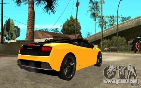 Lamborghini Gallardo LP560 Bicolore for GTA San Andreas right view