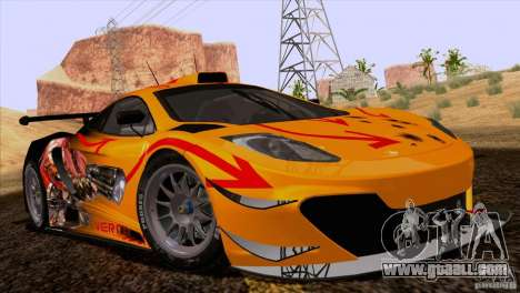 Painting works McLaren MP4-12 c Speedhunters for GTA San Andreas right view