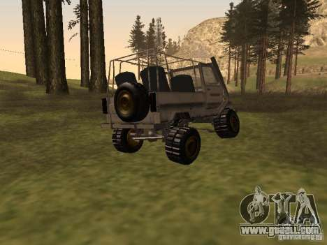 Luaz 969 Offroad for GTA San Andreas back left view