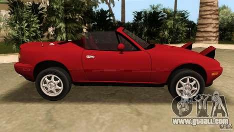 Mazda MX-5 for GTA Vice City left view