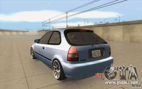 Honda Civic EK9 JDM v1.0 for GTA San Andreas back left view