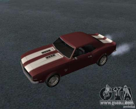 Chevrolet Camaro SS for GTA San Andreas bottom view