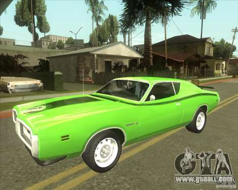 1971 Dodge Charger Super Bee for GTA San Andreas back view