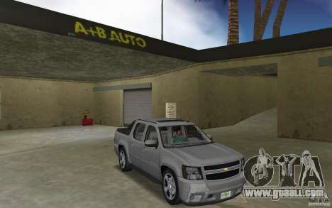 Chevrolet Avalanche 2007 for GTA Vice City back view