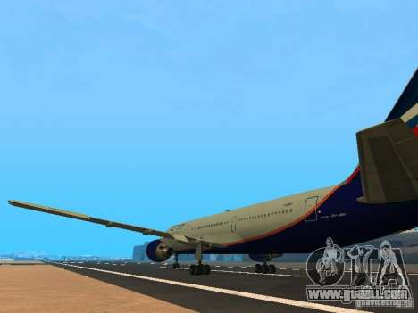 Boeing 767-300 Aeroflot for GTA San Andreas back left view