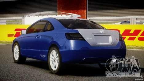 Honda Civic Si Coupe 2006 v1.0 for GTA 4 back left view