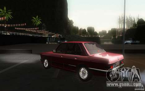 BMW E28 525e ShadowLine Stock for GTA San Andreas back left view