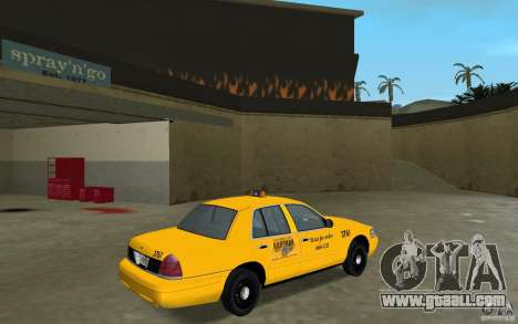 Ford Crown Victoria Taxi for GTA Vice City right view
