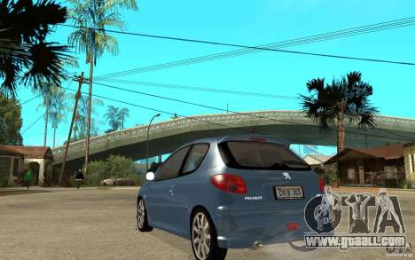 Peugeot 206 GTi - Stock for GTA San Andreas back left view