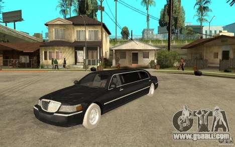 Lincoln Towncar limo 2003 for GTA San Andreas