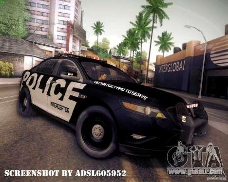Ford Taurus Police Interceptor 2011 for GTA San Andreas left view