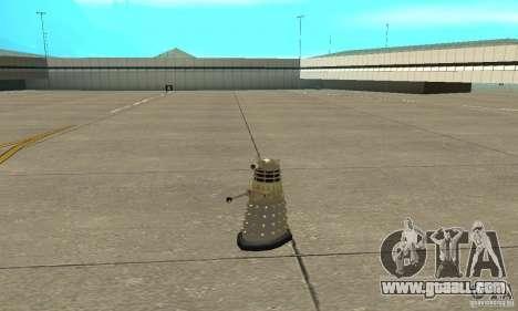 Dalek Doctor Who for GTA San Andreas